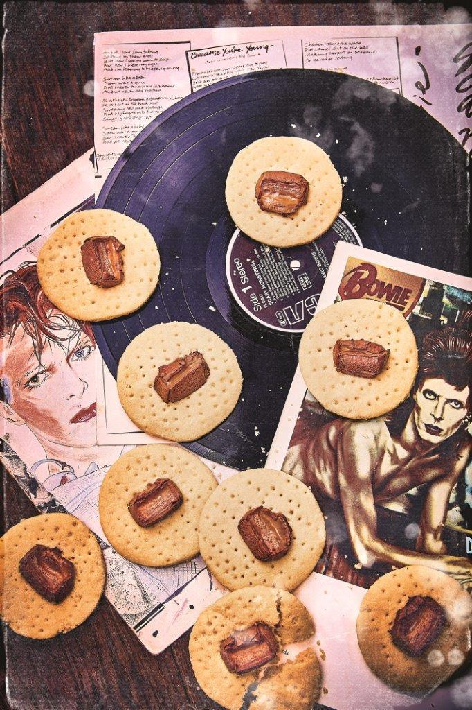 Shortbread mit Mars für Fans von David Bowie